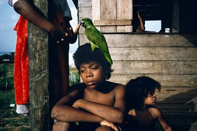 NICARAGUA. Puerto Cabezas. 1992. Miskito children.